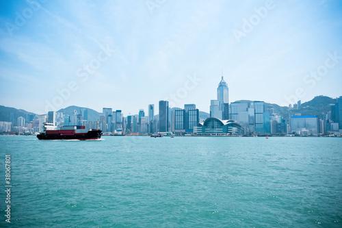 Fotografia  hong kong victoria harbor landscape