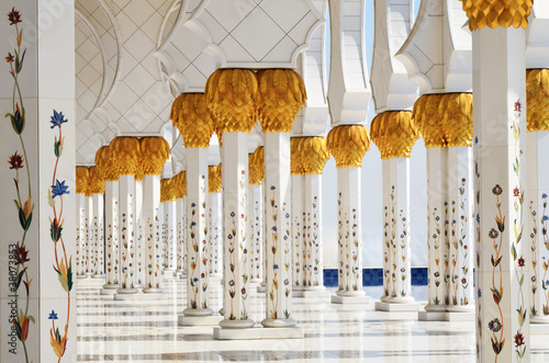 Fotomural  Columns of Sheikh Zayed Mosque in Abu Dhabi, UAE