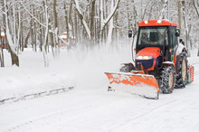 Winter Snow Removal A Small Tractor