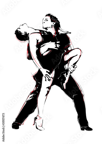 Fotografie, Obraz  latino dance