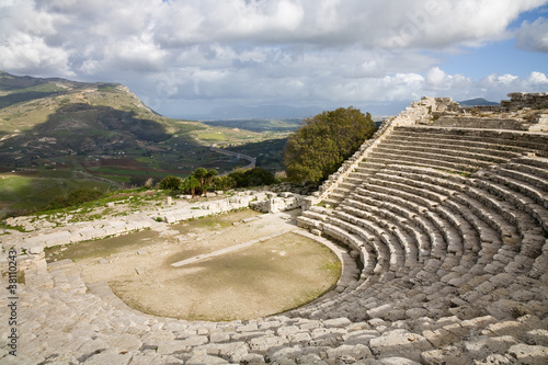 Obraz na plátně Greek theater, Segesta
