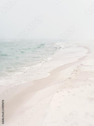 Soft Foggy Seashore Canvas Print