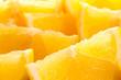 Freshly sliced lemons closeup