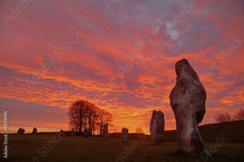 Canvas Prints Artistic monument Avebury Stone Circle