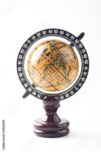 Plakaty ziemia stary-globus