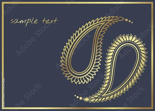 Paisley Motifs Traditional Hindu Wedding Card Design India Buy