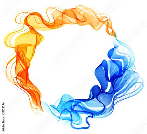 abstrakcjonistyczny-tlo-blekit-czerwien-lod-i-ogien