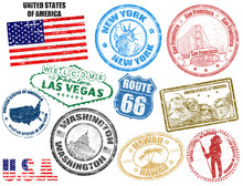 Stamps With United States Of A...