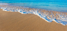 Wave Washing On Sand, Tropical Beach