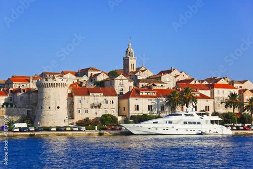 Obraz na plátně Town Korcula at Croatia