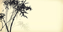 Vector Background Of Bamboo Br...