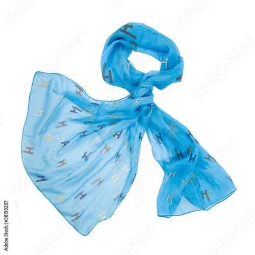 Fotografie, Obraz  colored silk scarf on white background