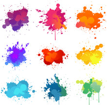 Colorful Paint Splats Collecti...
