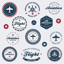 Vintage Aeronautics Labels