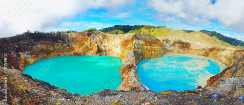 Foto op Canvas Indonesië Kelimutu lakes