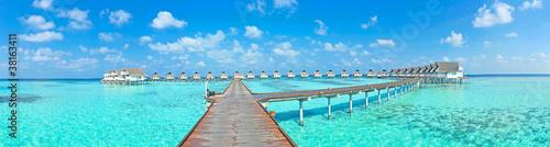 Fotografía Maldive water villa - bungalows panorama