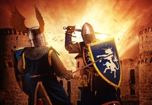 Two Knights Fighting Agaist Me...