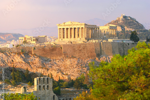 Poster Akropolis, Athen, Griechenland