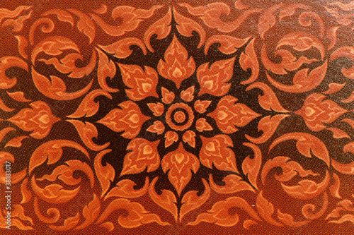 Art in the temples of Thailand. Canvas-taulu