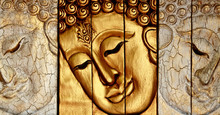 Traditional Thai Style Lord Buddha's Face Wood Carving