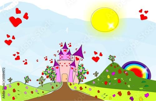 Poster Castle Castle of love