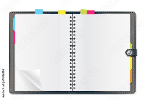 open diary Canvas Print