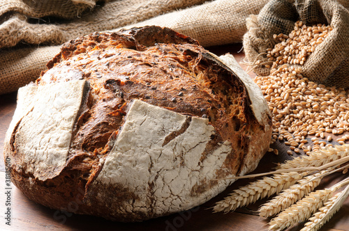 Fototapeta Freshly baked traditional bread obraz