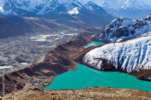 Himalayas landscape, Ngozumpa Glacier #38191649
