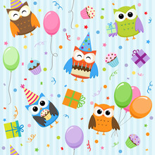 Vector Background With Party O...