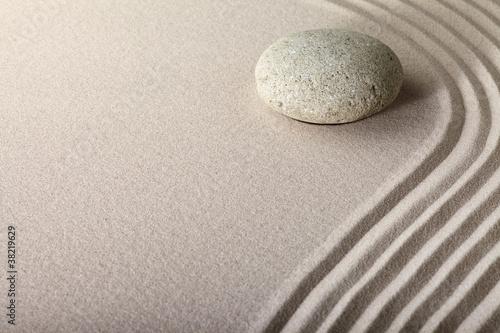 zen sand stone garden