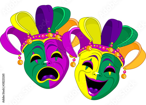 Printed kitchen splashbacks Fairytale World Mardi Gras Masks
