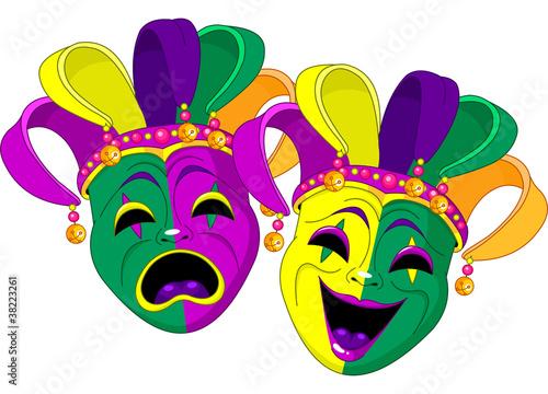 Poster Magie Mardi Gras Masks