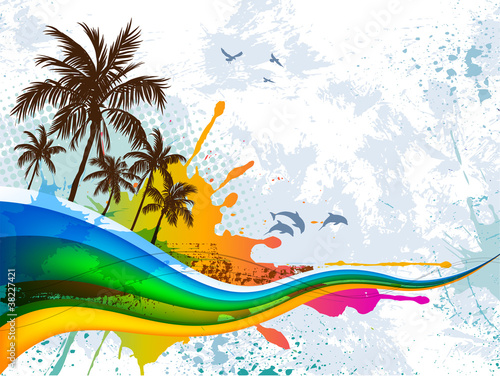 Summer abstract background #38227421