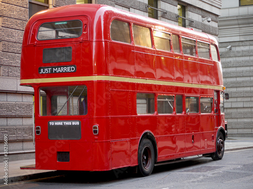 Türaufkleber London roten bus Old fashioned London red bus