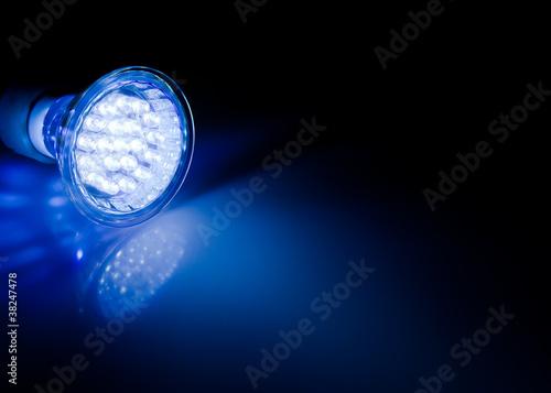 Photo  Beam of led lamp
