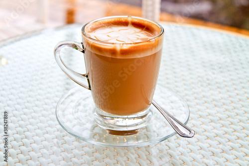 Foto op Plexiglas Chocolade Cappuccino