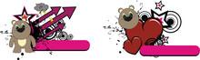 Teddy Bear Kid Cartoon Copyspace