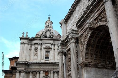 Fotobehang Fontaine Forum Romanum, Rome, Italy