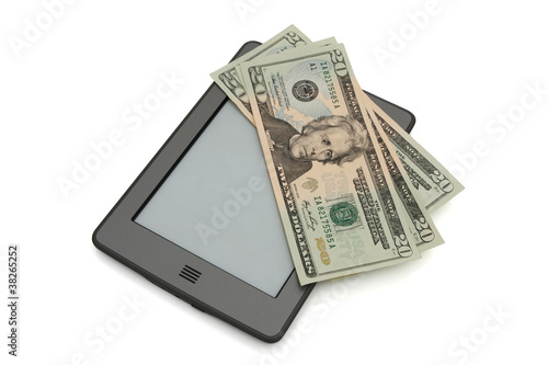 Fotomural Touch e-reader with money
