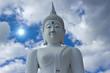 Buddha white with a white background.