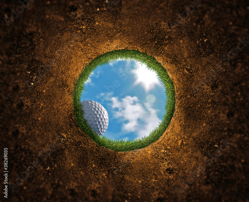 Photo Stands Golf Golf Ball Falling