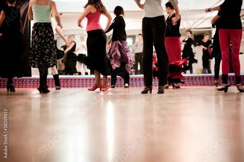 Küchenrückwand aus Glas mit Foto Tanzschule dancing class