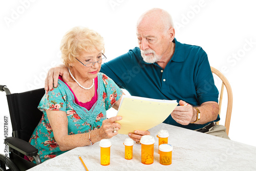 Fotografia, Obraz  Senior Couple - Medical Bills