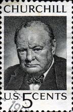 Winston Churchill. 1874-1965. US Postage.