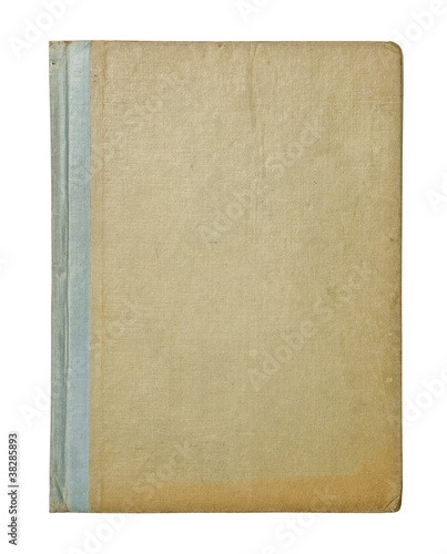Fotografija  vintage hardback book cover isolated on white