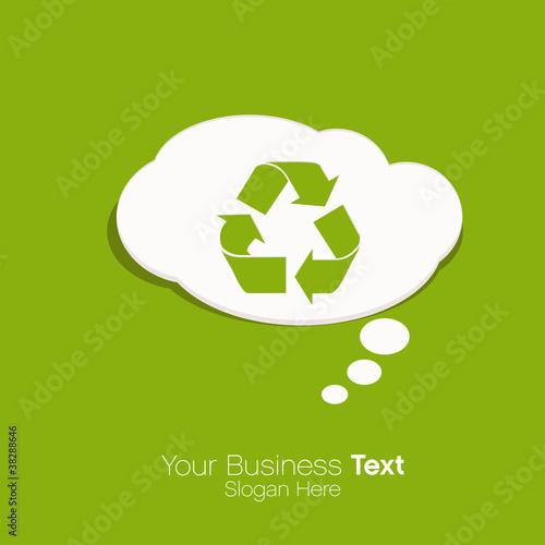 Plakaty ekologiczne wektor-recyklingu