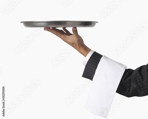Obraz na plátne waiter or server isolated on white