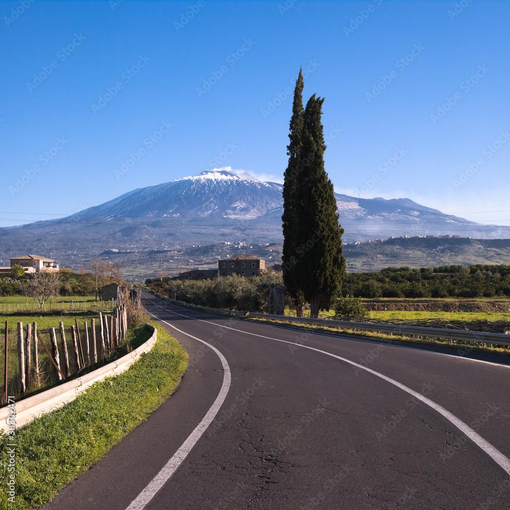 Fényképezés  Etna Landscape