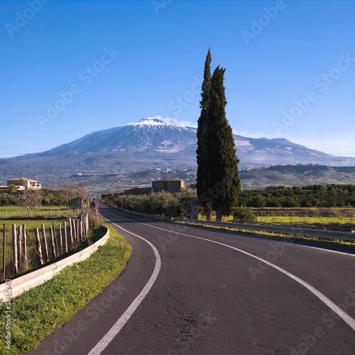 Fotografie, Tablou  Etna Landscape