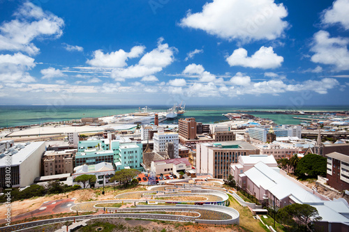 Printed kitchen splashbacks South Africa cityscape of Port Elizabeth, South Africa